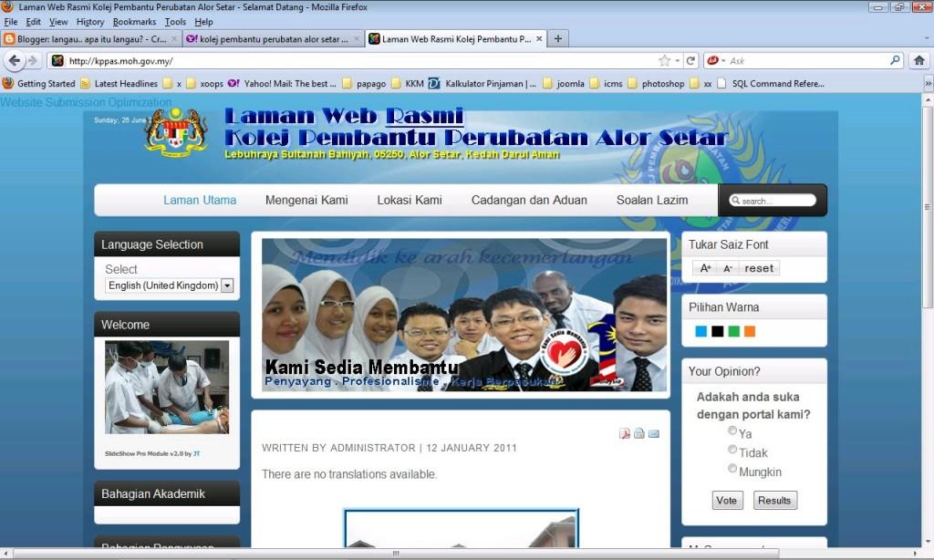 laman web
