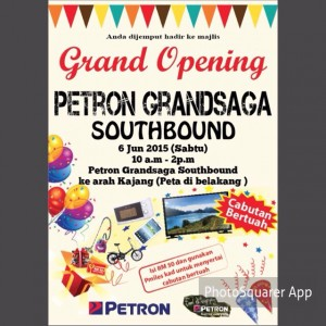 Grand Opening Petron Grandsaga Southbound