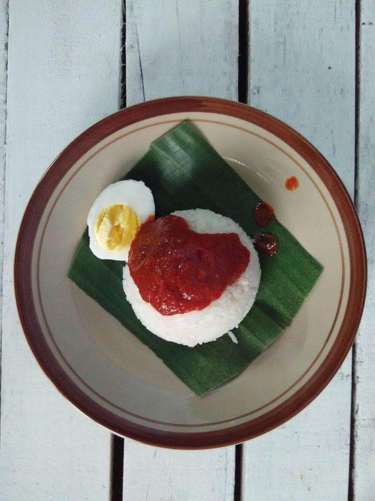 tempahan nasi lemak